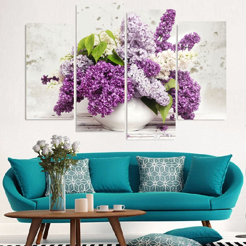 Framed Wall Art Prints Potted Hydrangea Paintings Large Flower ...