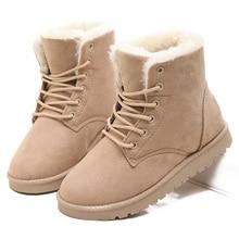 Shoes Women Boots Snow Winter 2015 Fur Ankle Botas Femininas Chaussure Femme Snowboots