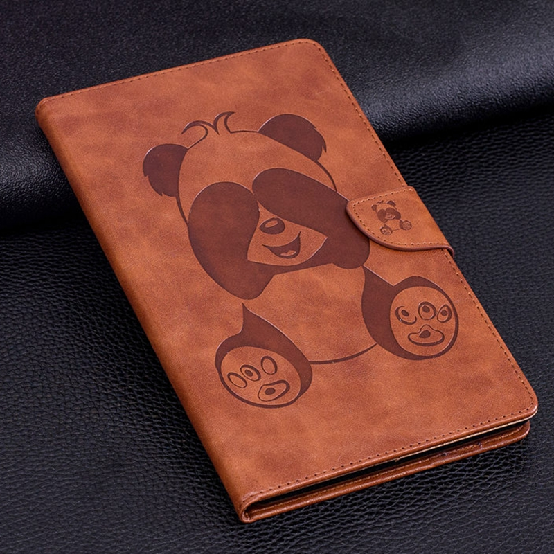 for Amazon Kindle Fire 7 2017 Tablet Cover Fire 7 2015 Wallet Fold Stand Leather Flip Capa Funda Coque Cartoon Panda Cute