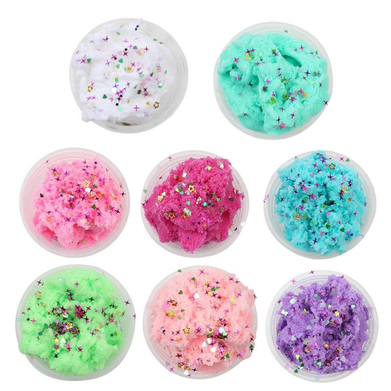 Magic Scented Plasticine Fluffy Putty Foam Slime DIY Stress Relief Antistress Toys MultiColor