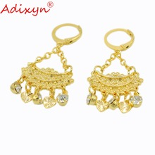 Adixyn Crystal Earrings For Women Gold Color Earring Ethiopian/African/Inidan/Nigerian Party Jewelry N030514 цены онлайн