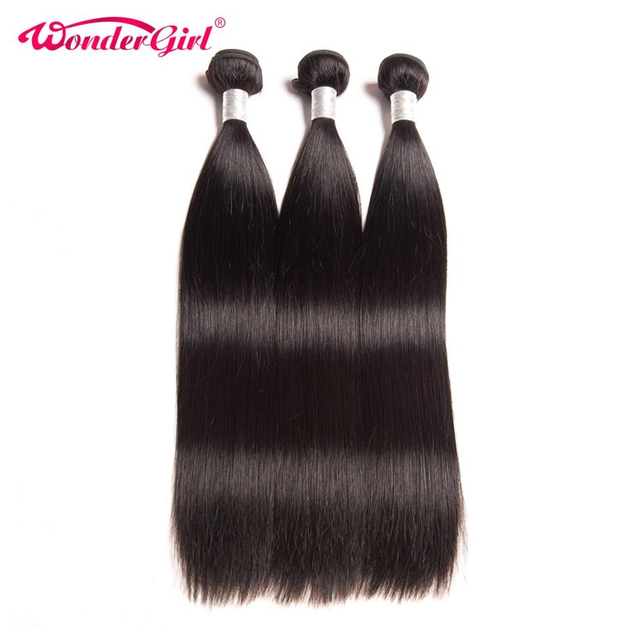 Wonder girl Malaysian Straight font b Hair b font Remy font b Hair b font Weaving
