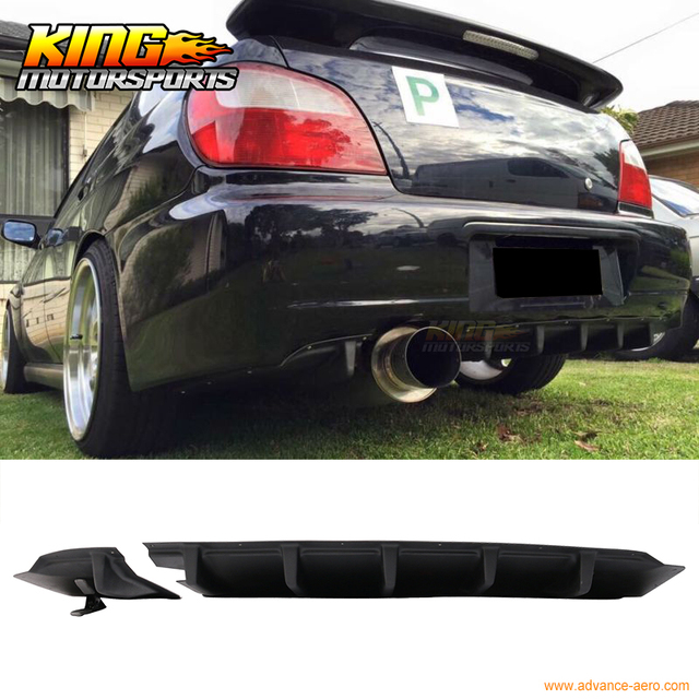 For 04 07 05 06 Subaru Impreza WRX / STi JDM Rear Diffuser Splitter