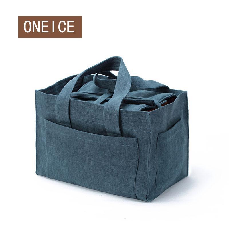 Voyage voiture boite à thé rangement tissu tasse sac extérieur Portable sacs théière tissu