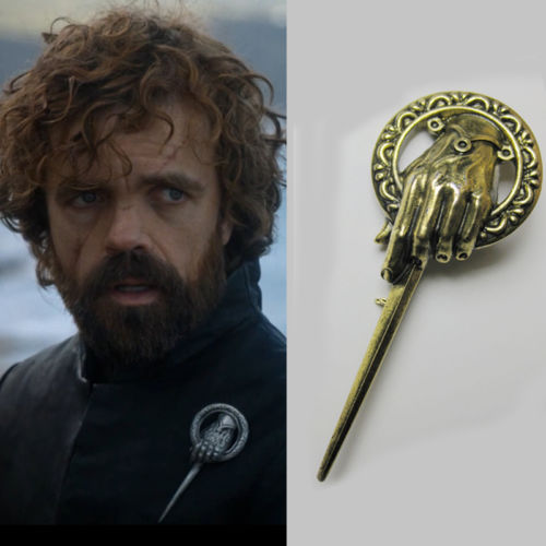 A Song Of Ice And Fire Game Of Thrones Tyrion Lannister Hand Of The King Badge Metal Alloy Brooch Pin Cosplay Accessories Gift
