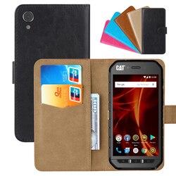 На Алиэкспресс купить чехол для смартфона luxury wallet case for caterpillar cat s41 pu leather retro flip cover magnetic fashion cases strap