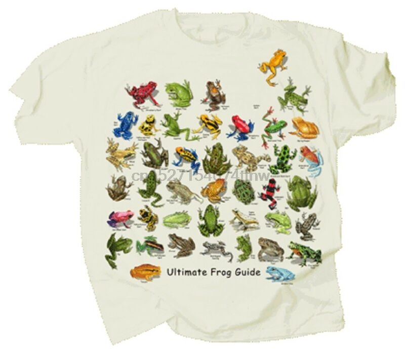 Ultimate Frog & Toad Guide Adult T-shirt S M L XL XXL Natural Color 40 Species
