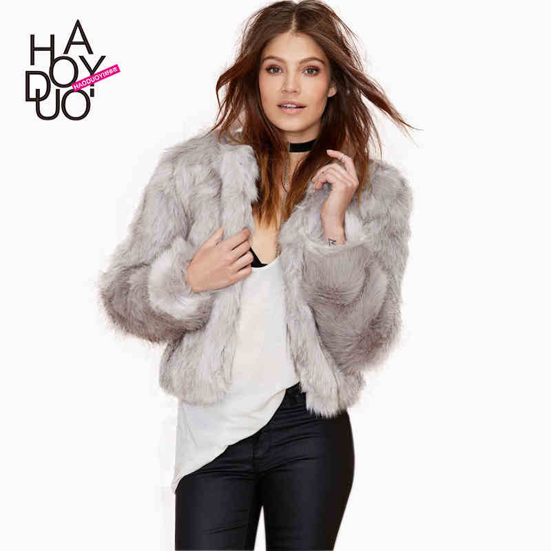 Compare Prices on Gray Faux Fur Coat- Online Shopping/Buy Low ...
