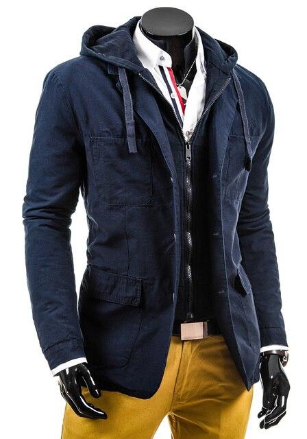 2015 весна и осень куртка с капюшоном мужской тонкий популярны мужские свободного покроя куртки и пальто капот верхняя одежда марка одежды