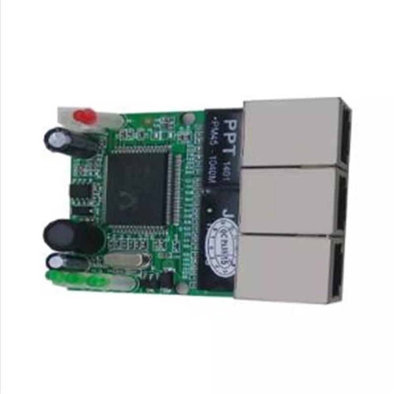 Image 3 - OEM переключатель mini 3 плата с портами Ethernet 10/100 Мбит/с rj45 станция сетевого коммутатора модуль печатной платы доска для системной интеграции-in Сетевые коммутаторы from Компьютер и офис