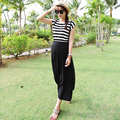 Maternity Clothes Summer Dress Slim Stripe Fake Suspender Skirt Maternity Dresses Clothes For Pregnant Women  2016 New