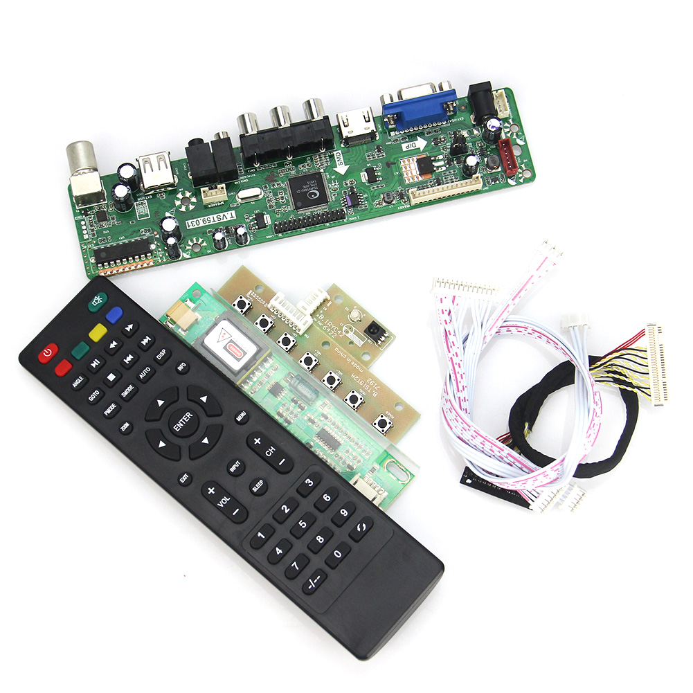 T.VST59.03 LCD/LED Controller Driver Board For LT141X7-124 L141X1 (TV+HDMI+VGA+CVBS+USB) LVDS Reuse Laptop 1024x768