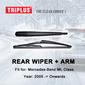 """Brazo Del Limpiaparabrisas trasero con Cuchilla para Mercedes Benz ML Class (2005-en adelante) 1 unid 12 """"300mm, Rear Wiper Arm & hojas de Limpiaparabrisas Trasero"""