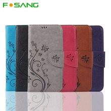 F-sang For Samsung galaxy A3 2016 case Luxury Retro PU Leather + Silicone Wallet Flip Cover Case sm-a310f A310 A310F Case phone