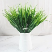 7 fork Artificial Grass Plants Plastic Green Flowers Household Room Desktop Decoration Wedding Fake Plant