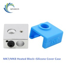 KINGROON 3D Printer MK7/MK8 Protective Silicone Sock Cover Case+MK7/MK8 Heated Block Kit Heating Block and Cover Case Parts 2
