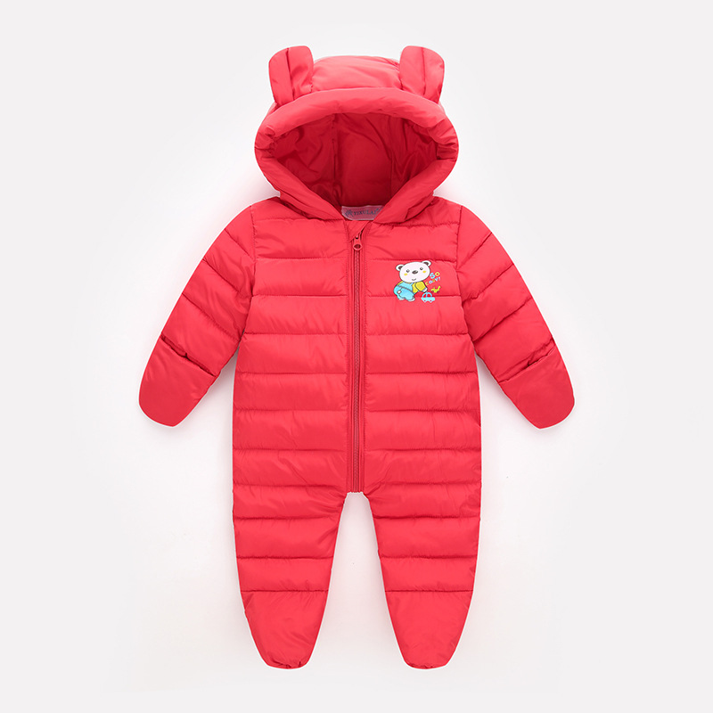 0-18M Thick Warm Infant Baby Rompers Winter Clothes Newborn Baby Boy Girl Romper Jumpsuit Hooded Kid Outerwear for Cold Russian newborn baby rompers baby clothing 100% cotton infant jumpsuit ropa bebe long sleeve girl boys rompers costumes baby romper