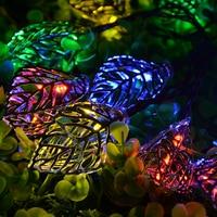 Kmashi 3M 20 LED Holiday Light Colorful Leaves Wedding String Fairy Light Christmas Bulb Decor Light