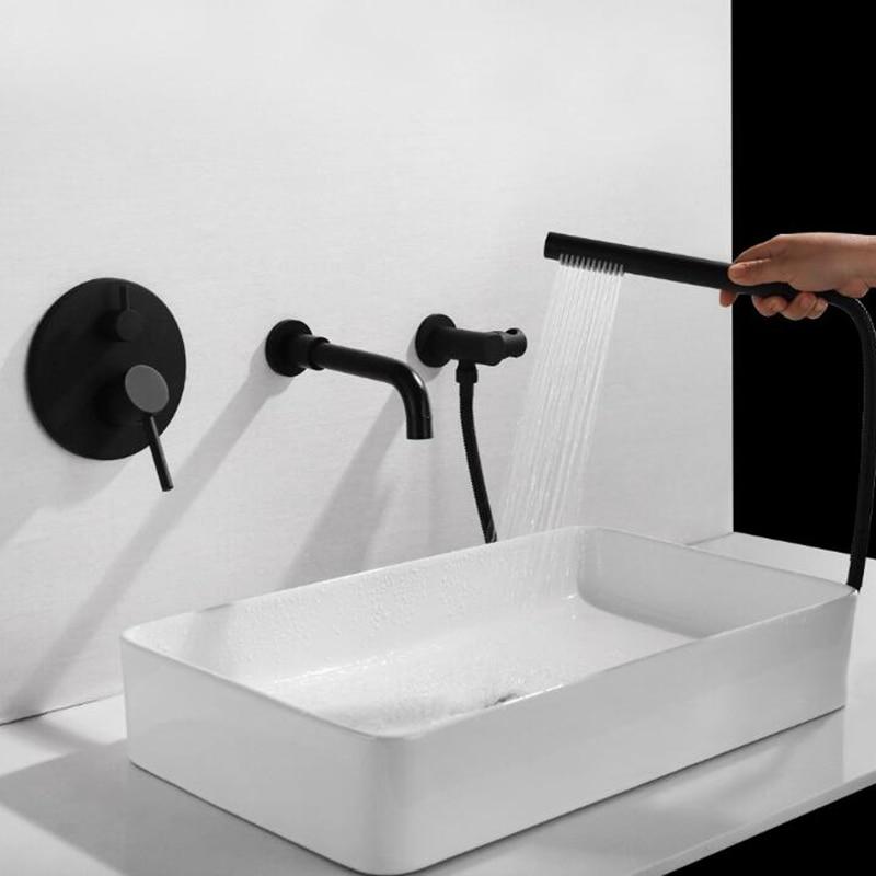 Смесители для ванны с ручным душевым смеситель горячей и холодной воды 3 шт. настенный смеситель для душа хромированный смеситель для раков