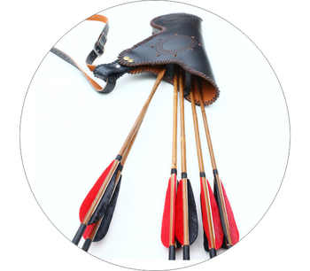 Compound 3mm Genuine Leather Archery Recurve Arrows Bag Archery Quiver for Shooting Hunting Pouch Traditional