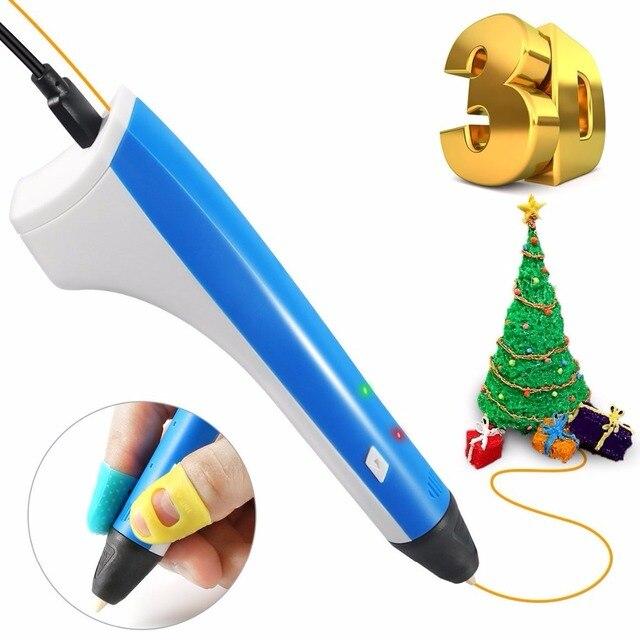 3d Ручка Бесплатная доставка 3D ручка для детей-взрослых с 2 бесплатными 1,75 мм нити современное искусство и ремесла инструмент SUNLU новейшие 3D р...