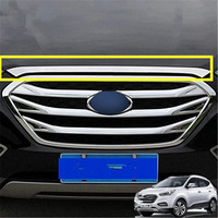 Car styling Stainless Steel Car Front cover hood trim for Hyundai IX35 2010 2015