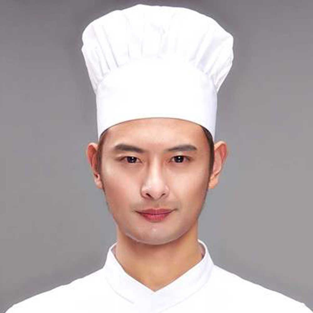 Adjustable Men Kitchen Baker Chef Cook Elastic Cap Hat Catering Comfortable