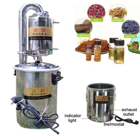 10L/21L/32L/55L nouvelle maison/laboratoire en acier inoxydable automatique Moonshine encore eau distillateur purificateur filtre Distillation d'huile essentielle