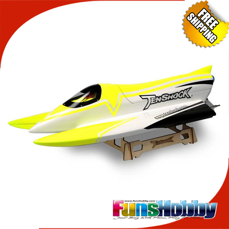 Tenshock F1 sans brosse 2.4G RC formule ARTR course vitesse télécommande bateau 80A ESC enfants Cod. TS-B00001/TS-B00002/TS-B00003