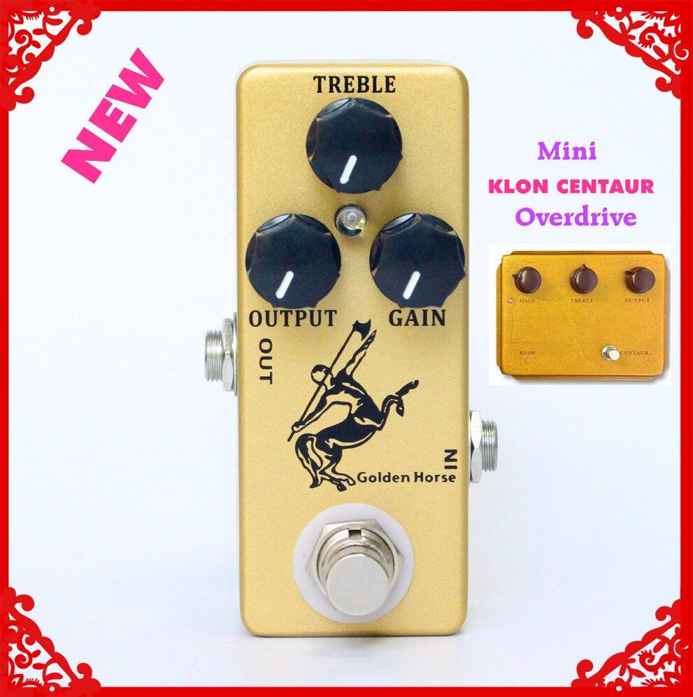 Golden Horse Effet Guitare Pédale Overdrive/Boost-MINI KLON Centaure Clone et true bypass