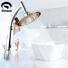 Chrome Polished Bathroom 6 Inch Rainfall Shower Head Handheld Shower Head  Sprayer Wall Mount(China