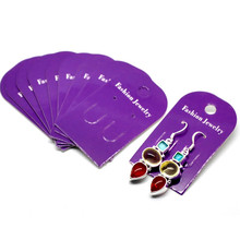 1500 Earrings Display Cards Jewelery Paper Purple Free shipping Crafts DIY 6x3.5cm(2 3/8x1 3/8)
