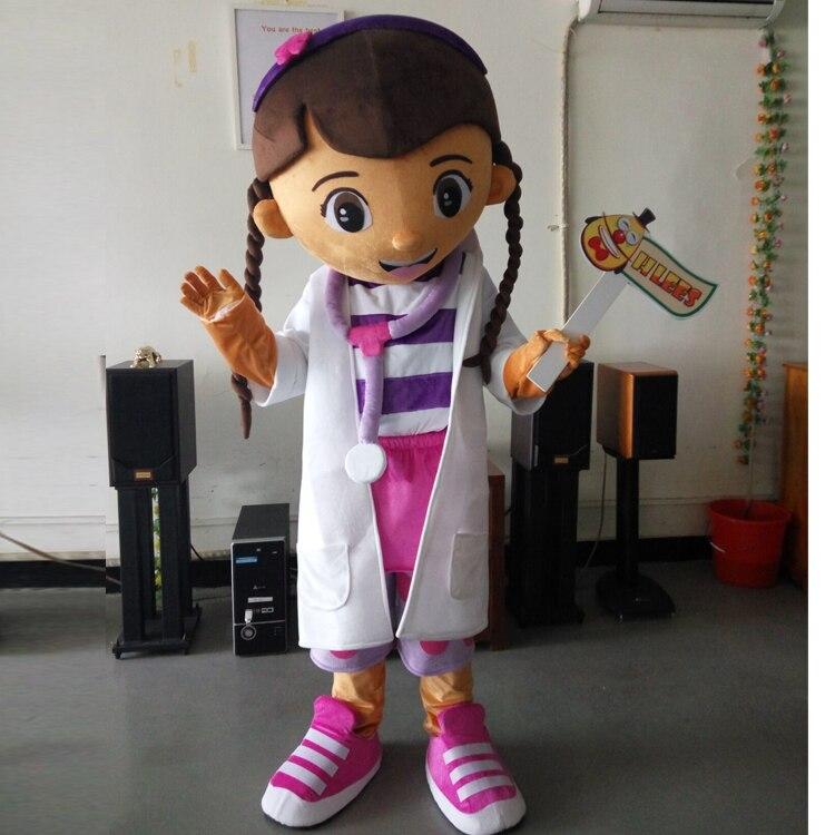 Ohlees девушки доктор Дотти McStuffins Doc McStuffins Маскоты костюм для взрослых Размеры Партия Костюмы Костюмированный Костюм paarty