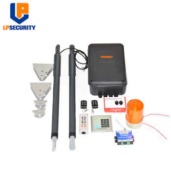 double arms swing gate opener door motor kit with 2 remote ( photocells,warning light,push button,keypad, gsm operator optional) - DISCOUNT ITEM  15% OFF All Category