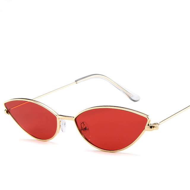 2019 Fashion Cute Sexy Ladies Cat Eye Sunglasses Women Metal Frame Vintage Candy Sun Glasses For Female UV400 Shades