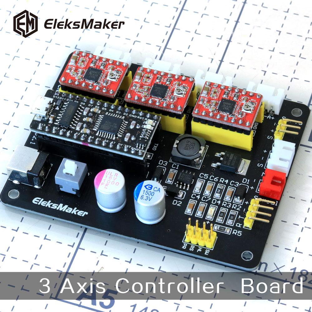 ФОТО EleksMaker-Mana  3 Axis stepper motor drive control board for CNC Arduino GRBL/Benbox laser engraving machine Plotter Dispenser