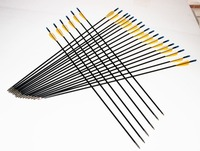 Hot Sale New Arrival Fiberglass Arrow 31 Spine700 With Orange Feather For Recurve Bow Arrow Or