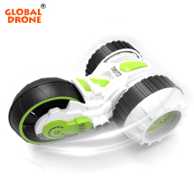 Global Drone 3 Wheels 6CH RC Stunt Car Rc Drift Car High Speeps Flashing 3D Flip Crawlers Remote Control Toy