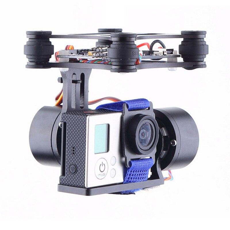 1set Light Weight BGC Brushless Motor Gimbal For Rc Drone For DJI Phantom 1 2 3+ Aerial Photography For GOPRO 3/4 Camera