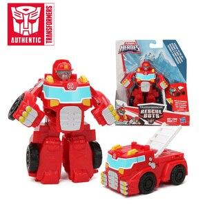 Image 1 - 13 Cm Playskool Heroes Transformers Rescue Bots Energize Heatwave De Fire Bot Hot Shot Rescan Chase De Politie Bot action Figure