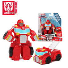 13cm Playskool Heroes Transformers Rescue boty Energize Heatwave the Fire Bot Hot Shot Rescan Chase The Police Bot figurka