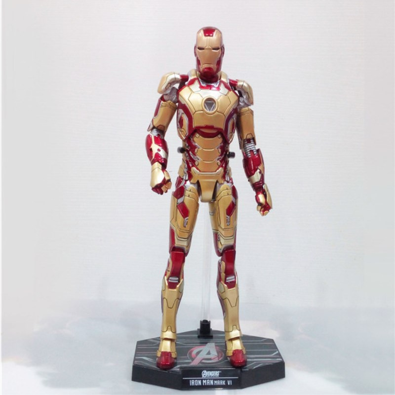 Avengers:Infinity War Superhero Iron Man MK42 Tony Stark Iron Man Armor PVC Action Figure Collectible Model Toy Retail box Q1 цена 2017