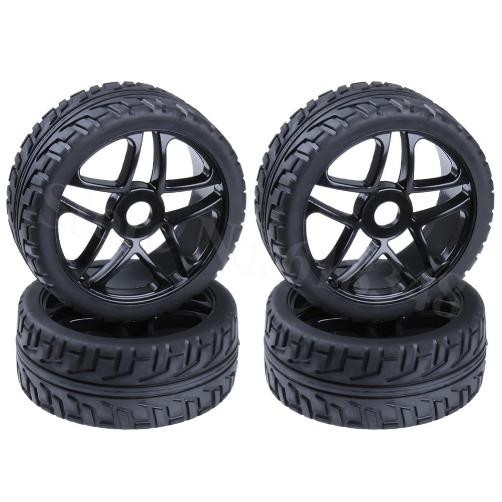 4pcs 3.2 RC 1/8 Buggy Tires & Wheels Rims 17mm Hub For Off Road Model Car Baja