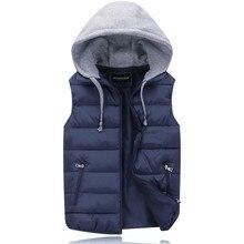 Cotton Vest Top Women Autumn Winter Hooded Vest Outerwear Th