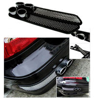 Chrome Exhaust Tail Pipes Rear Fender Exterior Decorative Simulation For C350 FF