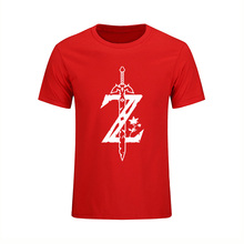 Summer Style T-shirt Men Fashion Clothing The Legend Of Zelda Great Cotton T Shirt Cool Print Hip Hop Tops Tees Camisetas