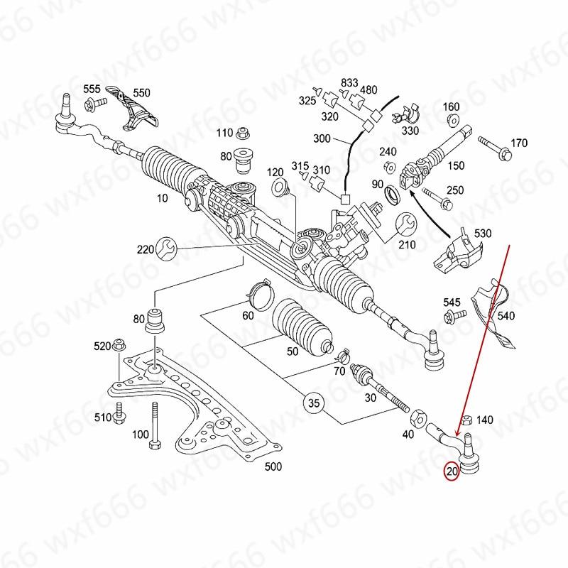 Автомобильная направленная шаровая Головка наружная рулевая тяга стержень Поперечная рулевая тяга W220 S350 S430mer ced es-be nzS500 головка рулевой шаровой головки