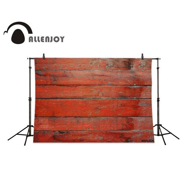 Allenjoy Fotografie Kulissen Rote Farbe Streifen Zaun Holz Mauer