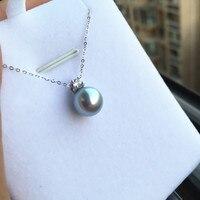 Kobiety Prezent słowo 925 Sterling silver prawdziwe Naturalne wody morskiej perły Akoya 8.5-9 stałe mm okrągły do popiołu