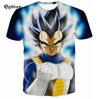 Hot Sale Dragon Ball Z Vegeta T Shirt Light Up Anime Super Saiyan Goku T-Shirt Men for teens Top Tee